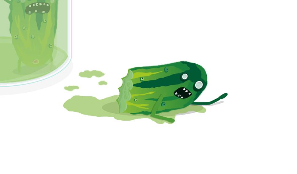 Ilustracja ogórków
