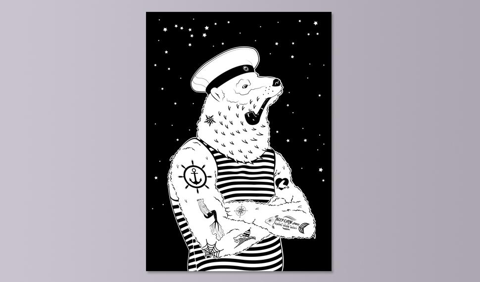 ilustracje dla studia tatuażu