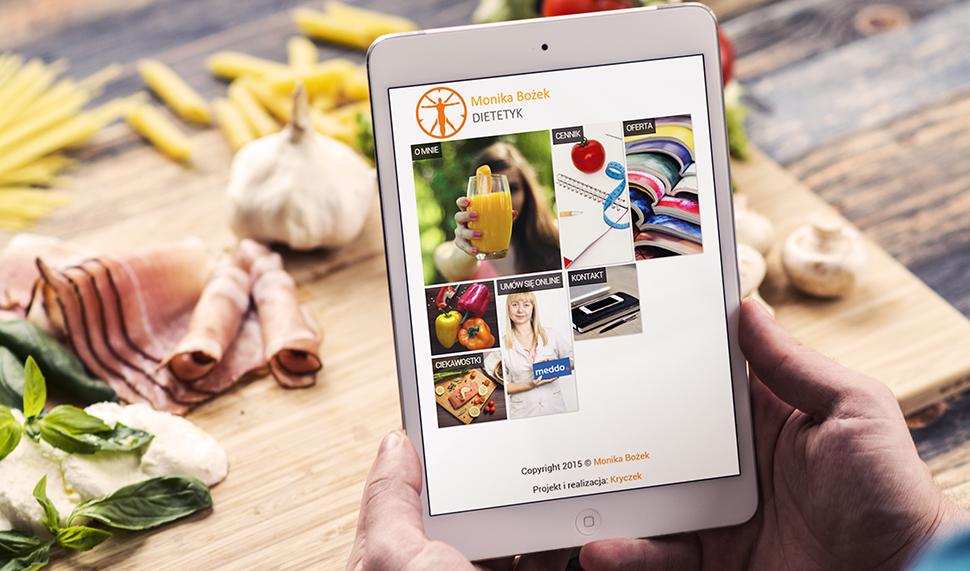 Strona internetowa gabinetu dietetycznego